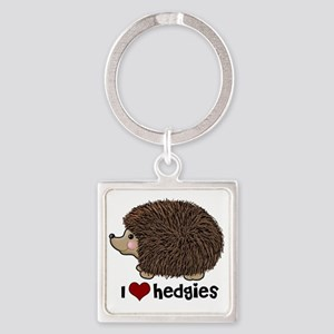 hearthedgies Square Keychain